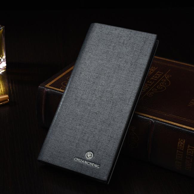 모던 그레이 장지갑 [제작 대량 도매 로고 인쇄 레이저 마킹 각인 나염 실크 uv 포장 공장 문의는 네이뽕]
