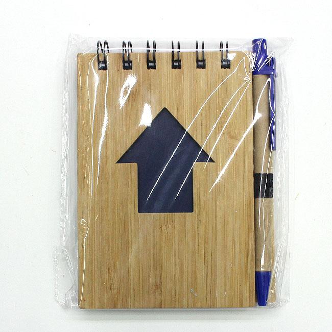 대나무 애로우 핸디수첩(블루) (9cmx13cmx1cm) [제작 대량 도매 로고 인쇄 레이저 마킹 각인 나염 실크 uv 포장 공장 문의는 네이뽕]