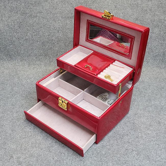 에나멜 3단 시크릿 보석함A(레드) [제작 대량 도매 로고 인쇄 레이저 마킹 각인 나염 실크 uv 포장 공장 문의는 네이뽕]