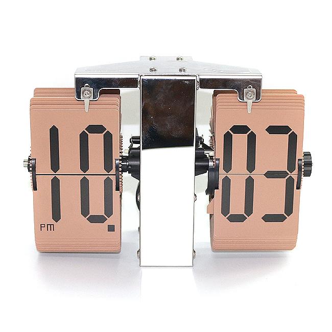 심플 플립시계(브라운) [제작 대량 도매 로고 인쇄 레이저 마킹 각인 나염 실크 uv 포장 공장 문의는 네이뽕]