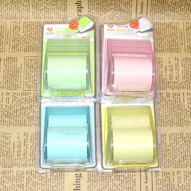 컬러 롤 접착 메모지(5cmx8m) [제작 대량 도매 로고 인쇄 레이저 마킹 각인 나염 실크 uv 포장 공장 문의는 네이뽕]