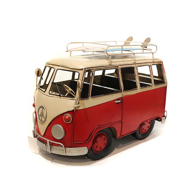 클레식 버스 장식(레드) [제작 대량 도매 로고 인쇄 레이저 마킹 각인 나염 실크 uv 포장 공장 문의는 네이뽕]