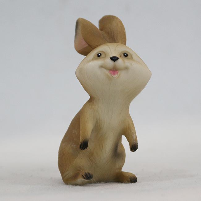 웃은 얼굴 토끼 조각상(B) [제작 대량 도매 로고 인쇄 레이저 마킹 각인 나염 실크 uv 포장 공장 문의는 네이뽕]