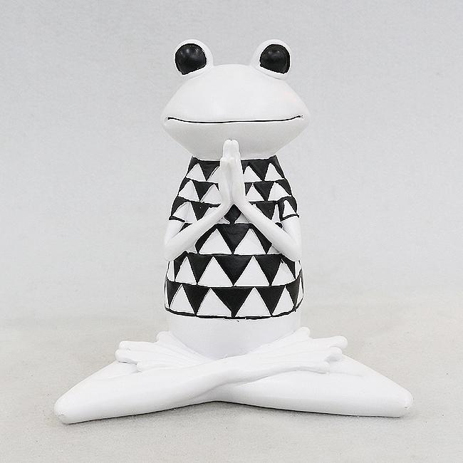 요가 개구리 조각상(A)