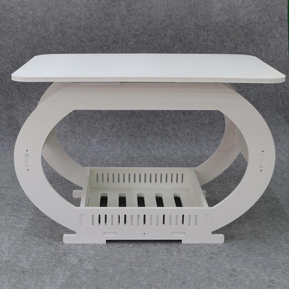 로얄 화이트 수납 테이블(60cmx40cmx40cm) [제작 대량 도매 로고 인쇄 레이저 마킹 각인 나염 실크 uv 포장 공장 문의는 네이뽕]