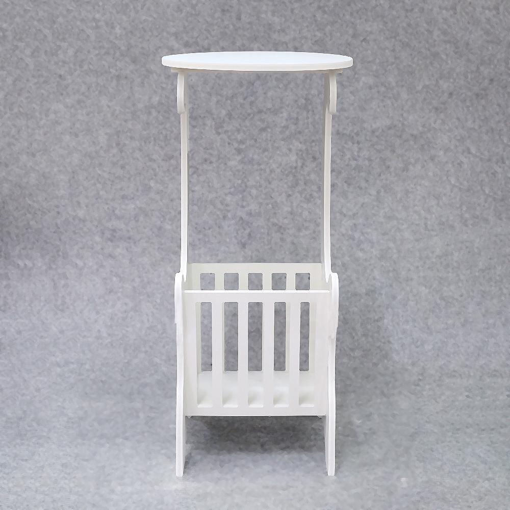 슬림 화이트 수납 테이블(62cmx30cmx25cm) [제작 대량 도매 로고 인쇄 레이저 마킹 각인 나염 실크 uv 포장 공장 문의는 네이뽕]