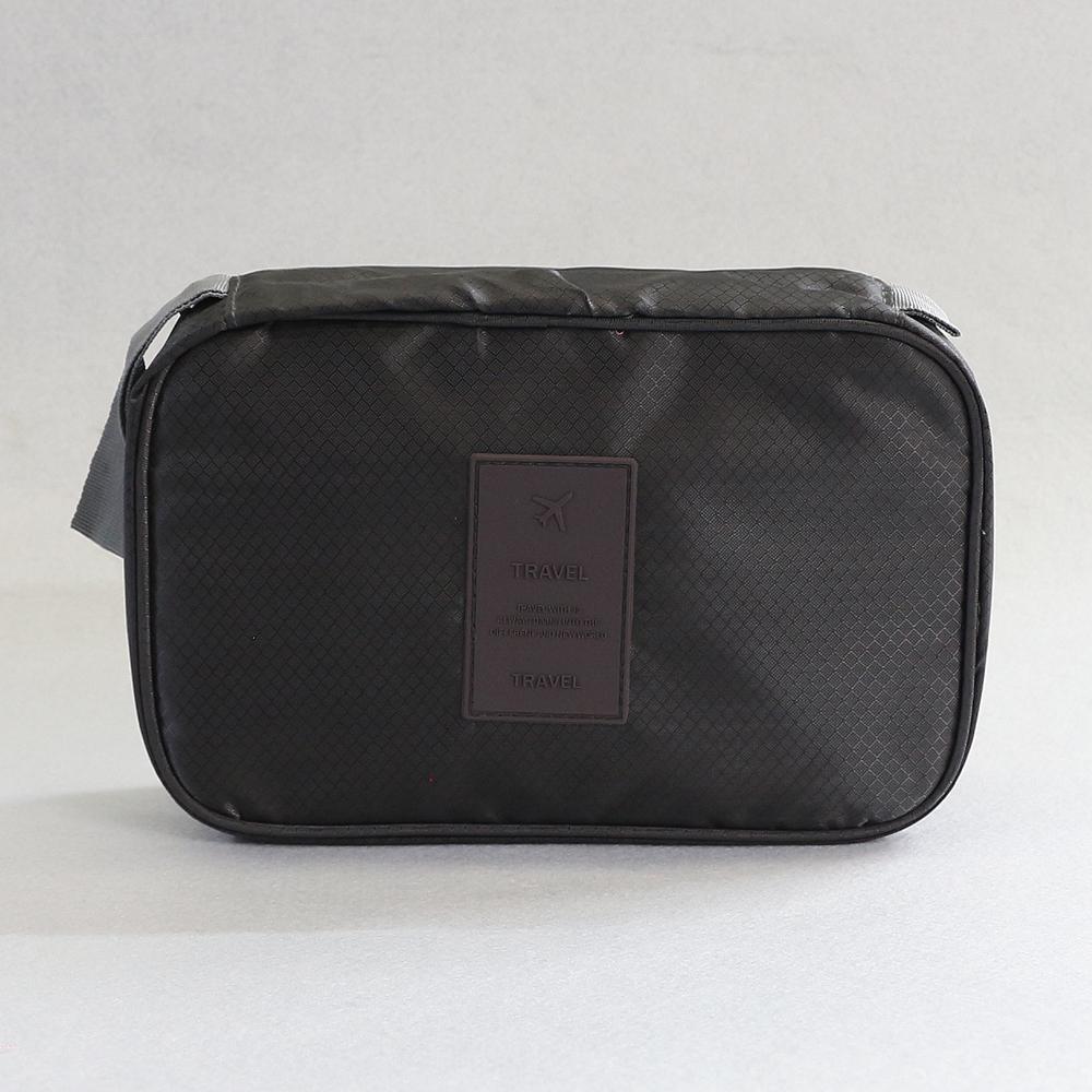 렛츠 프리덤 여행용 파우치 (시크 블랙) [제작 대량 도매 로고 인쇄 레이저 마킹 각인 나염 실크 uv 포장 공장 문의는 네이뽕]