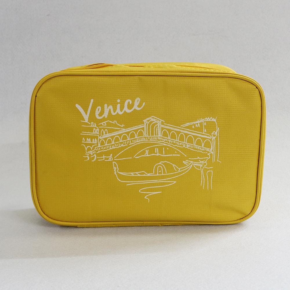 베니스 프리덤 여행용 파우치 (옐로우) [제작 대량 도매 로고 인쇄 레이저 마킹 각인 나염 실크 uv 포장 공장 문의는 네이뽕]