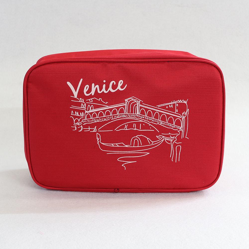 베니스 프리덤 여행용 파우치 (레드) [제작 대량 도매 로고 인쇄 레이저 마킹 각인 나염 실크 uv 포장 공장 문의는 네이뽕]