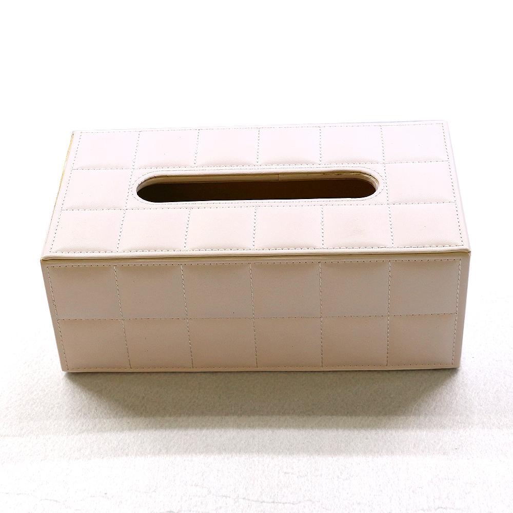 고급 직사각형 휴지케이스(아이보리) [제작 대량 도매 로고 인쇄 레이저 마킹 각인 나염 실크 uv 포장 공장 문의는 네이뽕]