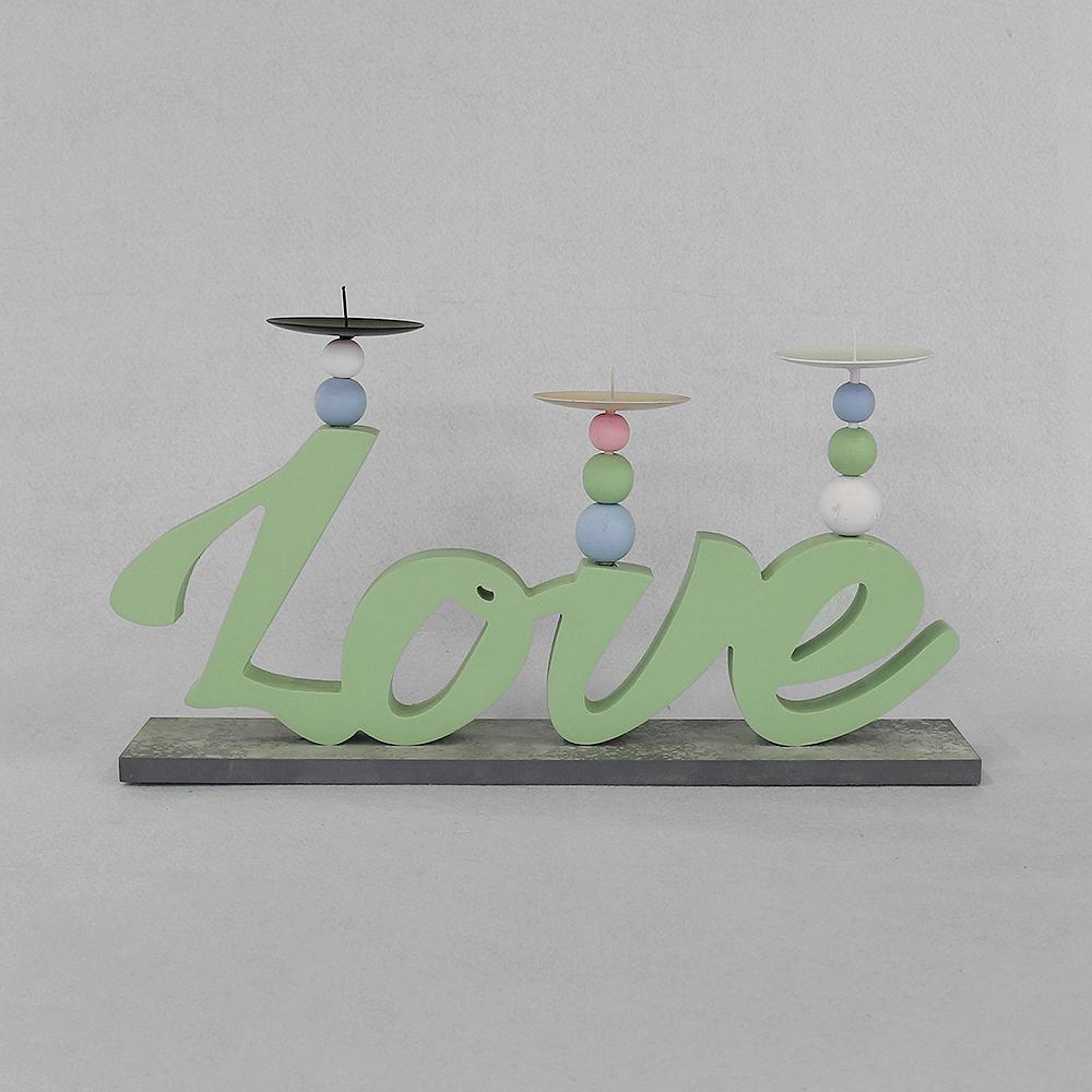 러브 캔들홀더(그린) [제작 대량 도매 로고 인쇄 레이저 마킹 각인 나염 실크 uv 포장 공장 문의는 네이뽕]