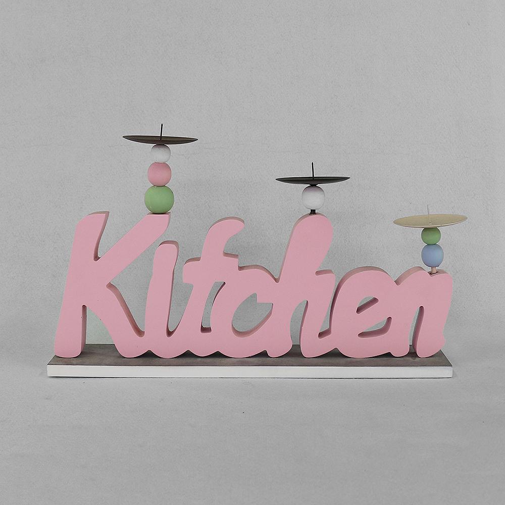 키친 캔들홀더(핑크) [제작 대량 도매 로고 인쇄 레이저 마킹 각인 나염 실크 uv 포장 공장 문의는 네이뽕]