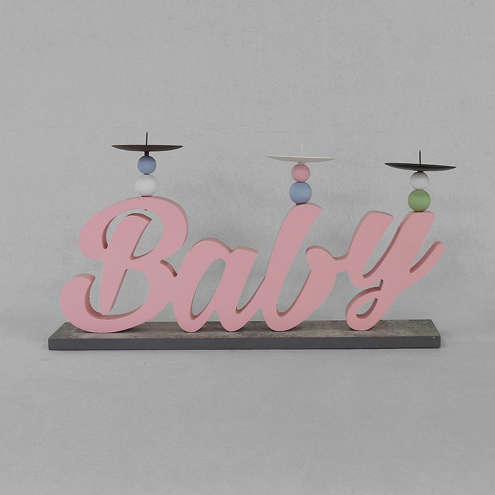베이비 캔들홀더(핑크) [제작 대량 도매 로고 인쇄 레이저 마킹 각인 나염 실크 uv 포장 공장 문의는 네이뽕]