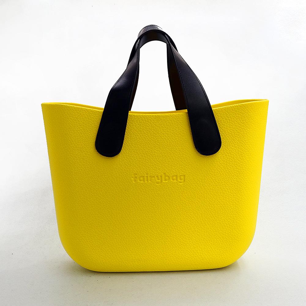 가죽 더블 숄더 토트백(레몬) [제작 대량 도매 로고 인쇄 레이저 마킹 각인 나염 실크 uv 포장 공장 문의는 네이뽕]