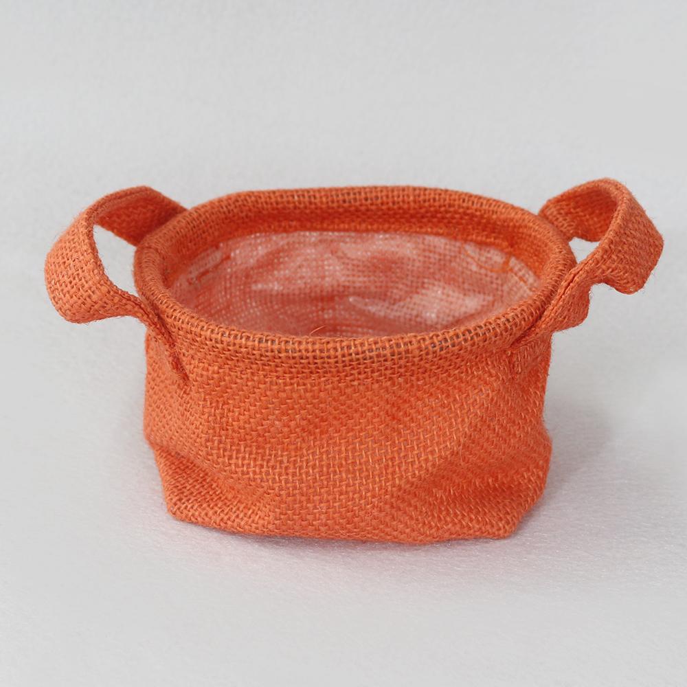 컬러 면마 다용도 수납함(오렌지) [제작 대량 도매 로고 인쇄 레이저 마킹 각인 나염 실크 uv 포장 공장 문의는 네이뽕]
