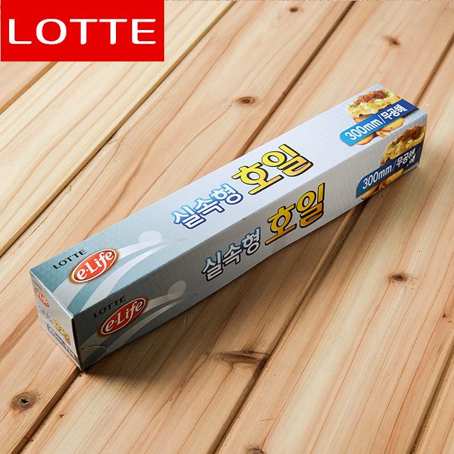 롯데 이라이프 실속형 호일(30cmx10M) [제작 대량 도매 로고 인쇄 레이저 마킹 각인 나염 실크 uv 포장 공장 문의는 네이뽕]