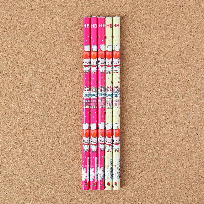 학교 학원 단체선물 토끼 연필 세트 20개 어린이용연필 초등학생연필