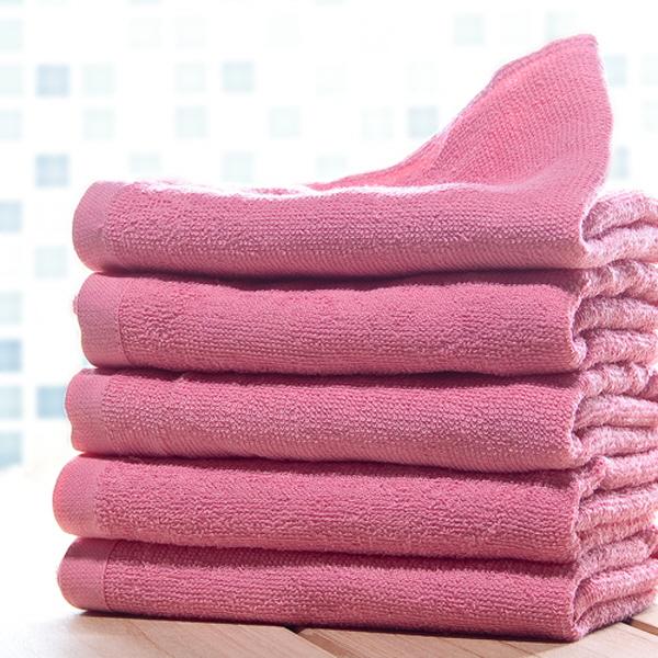 기본 타월(55g:핑크) [제작 대량 도매 로고 인쇄 레이저 마킹 각인 나염 실크 uv 포장 공장 문의는 네이뽕]