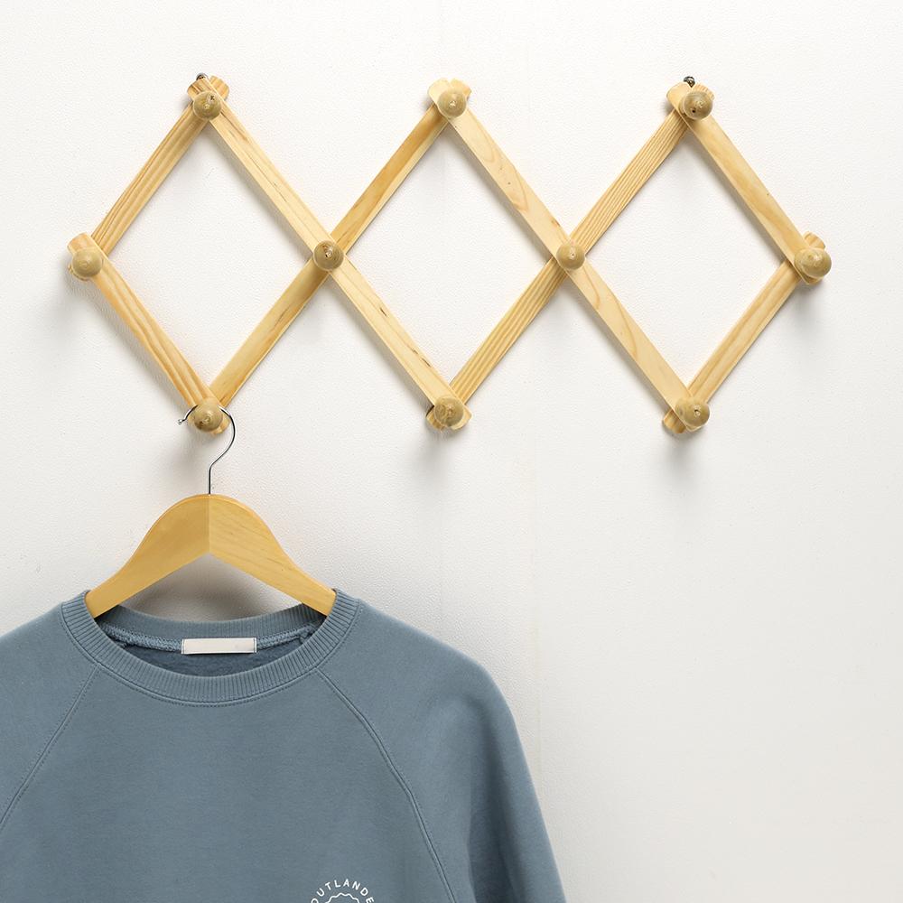 3단 앤틱 벽걸이옷걸이/인테리어 가정용 자바라옷걸이