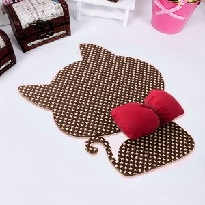 빨간 리본 캣 마우스패드 [제작 대량 도매 로고 인쇄 레이저 마킹 각인 나염 실크 uv 포장 공장 문의는 네이뽕]