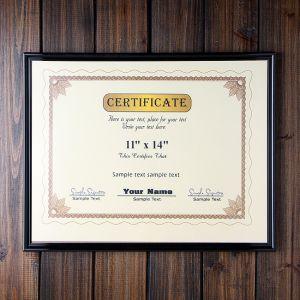 증명서 상장 액자(11x14) (다크브라운) [제작 대량 도매 로고 인쇄 레이저 마킹 각인 나염 실크 uv 포장 공장 문의는 네이뽕]