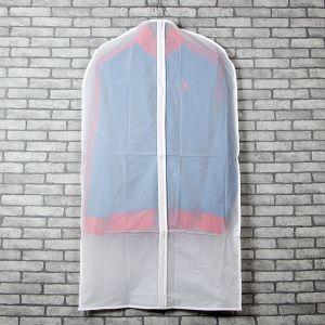 3p PEVA원단 지퍼식 옷커버(90cmX60cm) [제작 대량 도매 로고 인쇄 레이저 마킹 각인 나염 실크 uv 포장 공장 문의는 네이뽕]