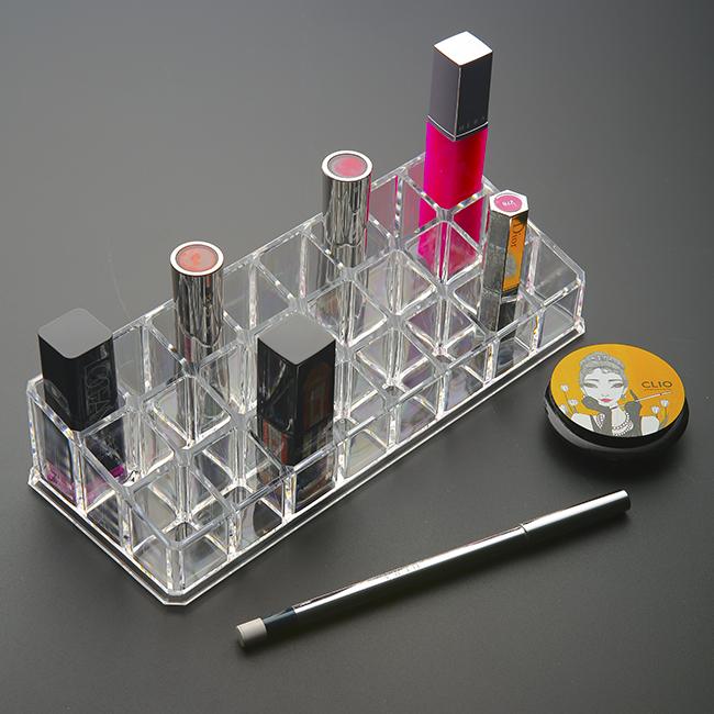 24칸 립스틱 정리대 [제작 대량 도매 로고 인쇄 레이저 마킹 각인 나염 실크 uv 포장 공장 문의는 네이뽕]