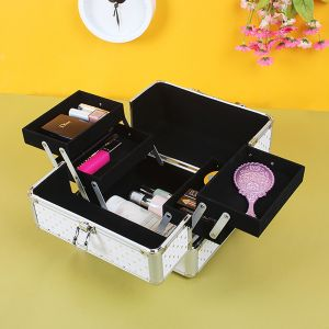 에나멜 하트 휴대용 메이크업박스 [제작 대량 도매 로고 인쇄 레이저 마킹 각인 나염 실크 uv 포장 공장 문의는 네이뽕]