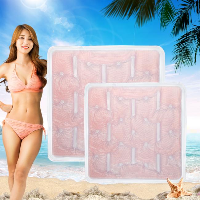 버블 아이스 방석(핑크) [제작 대량 도매 로고 인쇄 레이저 마킹 각인 나염 실크 uv 포장 공장 문의는 네이뽕]
