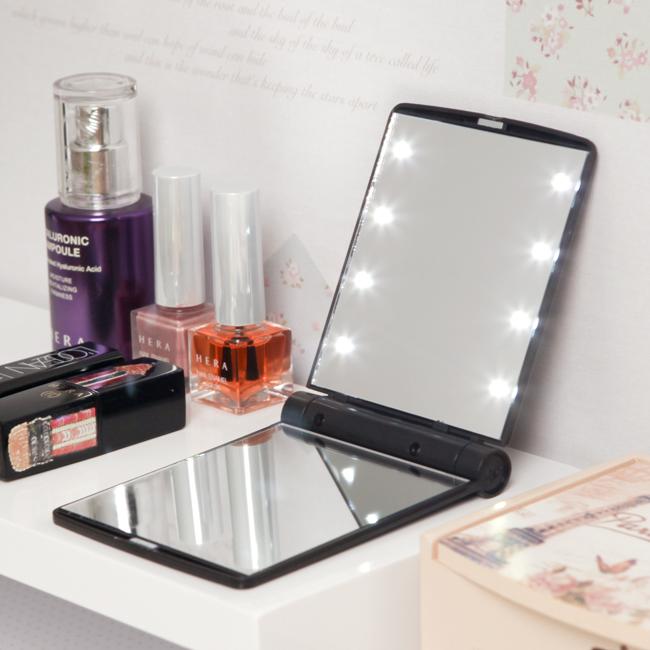 LED 폴딩 미니 거울 [제작 대량 도매 로고 인쇄 레이저 마킹 각인 나염 실크 uv 포장 공장 문의는 네이뽕]
