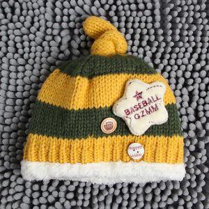 베이스볼 어린이 비니 모자(노랑) [제작 대량 도매 로고 인쇄 레이저 마킹 각인 나염 실크 uv 포장 공장 문의는 네이뽕]