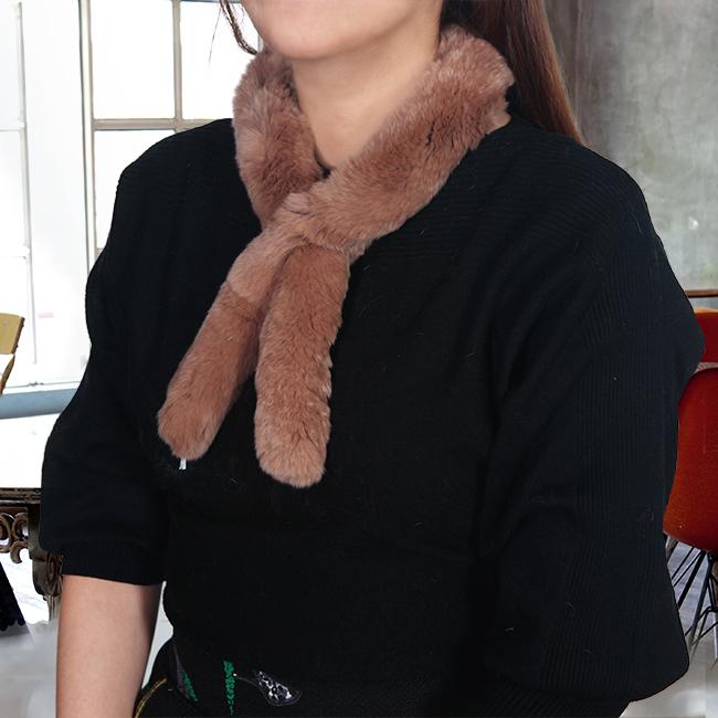 토끼털 목도리(커피) (여성용) [제작 대량 도매 로고 인쇄 레이저 마킹 각인 나염 실크 uv 포장 공장 문의는 네이뽕]