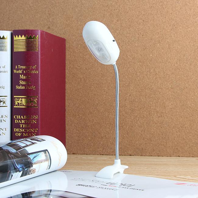 3구 LED 코브라 집게 독서등 [제작 대량 도매 로고 인쇄 레이저 마킹 각인 나염 실크 uv 포장 공장 문의는 네이뽕]