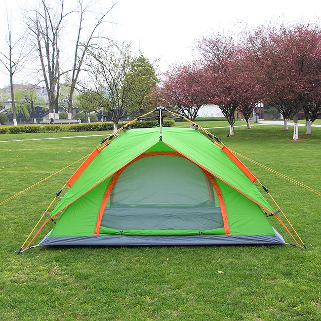 2-3인용 더블월 원터치 오토 텐트 [제작 대량 도매 로고 인쇄 레이저 마킹 각인 나염 실크 uv 포장 공장 문의는 네이뽕]