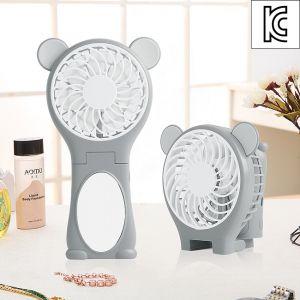곰곰이 거울 폴딩 선풍기(충전지포함) [제작 대량 도매 로고 인쇄 레이저 마킹 각인 나염 실크 uv 포장 공장 문의는 네이뽕]
