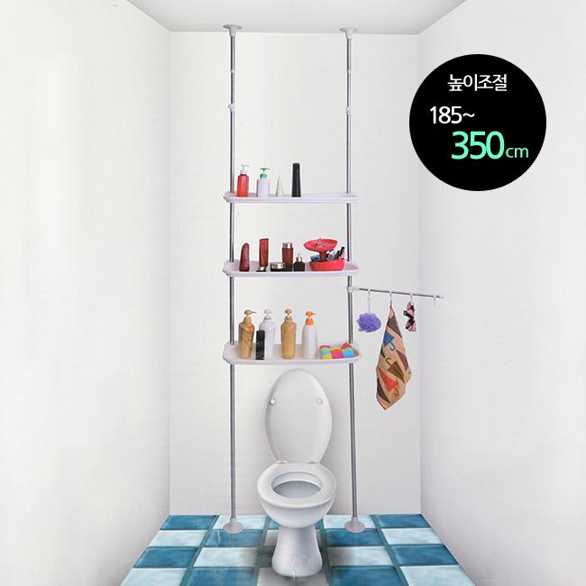 욕실 3단 더블 행거 선반 [제작 대량 도매 로고 인쇄 레이저 마킹 각인 나염 실크 uv 포장 공장 문의는 네이뽕]
