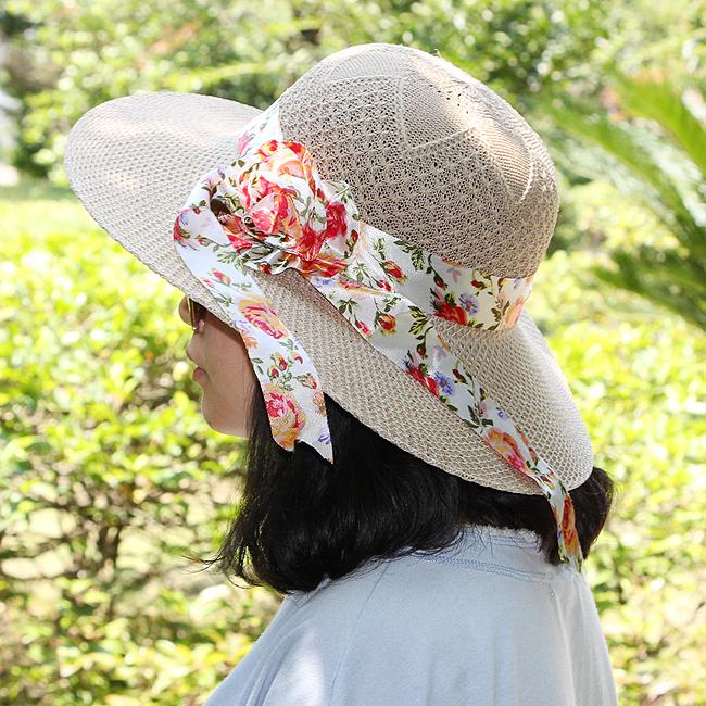 로즈 리본 패션 모자(여성용) [제작 대량 도매 로고 인쇄 레이저 마킹 각인 나염 실크 uv 포장 공장 문의는 네이뽕]