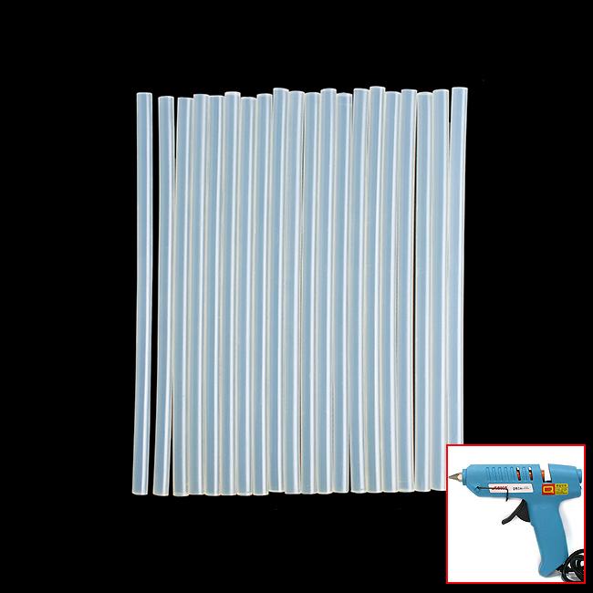 글루건스틱 20p세트(7mm) [제작 대량 도매 로고 인쇄 레이저 마킹 각인 나염 실크 uv 포장 공장 문의는 네이뽕]