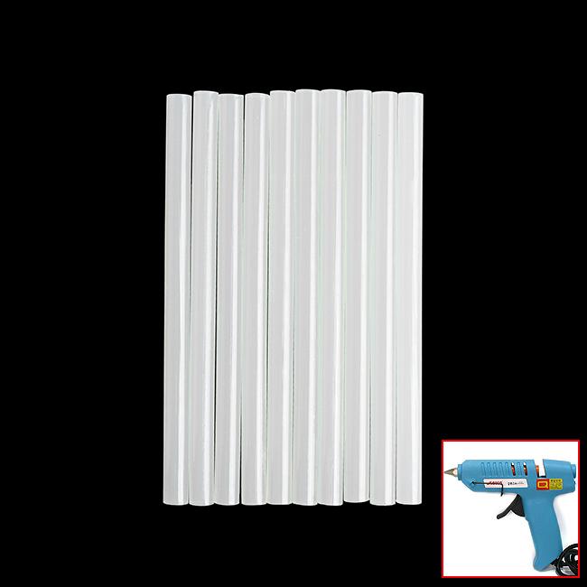글루건스틱 10p세트(11mm) [제작 대량 도매 로고 인쇄 레이저 마킹 각인 나염 실크 uv 포장 공장 문의는 네이뽕]