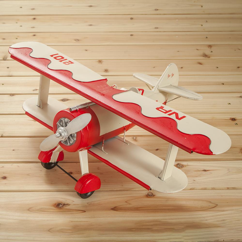[아트피플]철제모형 비행기/인테리어 전시 엔틱소품