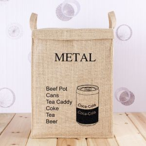면마 분리수거함(METAL) [제작 대량 도매 로고 인쇄 레이저 마킹 각인 나염 실크 uv 포장 공장 문의는 네이뽕]