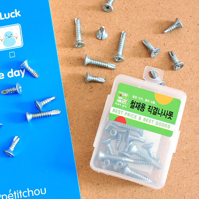 30p 직결나사못(혼합) [제작 대량 도매 로고 인쇄 레이저 마킹 각인 나염 실크 uv 포장 공장 문의는 네이뽕]