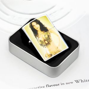 비키니 여인 메탈 라이터 [제작 대량 도매 로고 인쇄 레이저 마킹 각인 나염 실크 uv 포장 공장 문의는 네이뽕]