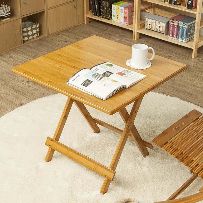 내추럴 접이식 사각 테이블(65cm) [제작 대량 도매 로고 인쇄 레이저 마킹 각인 나염 실크 uv 포장 공장 문의는 네이뽕]