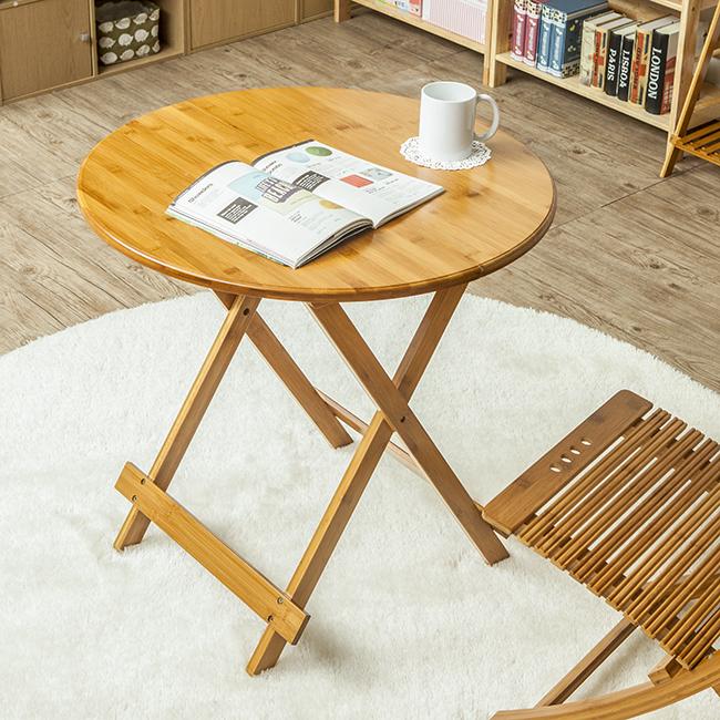 접이식 우드 원형 테이블(70cm*70cm) [제작 대량 도매 로고 인쇄 레이저 마킹 각인 나염 실크 uv 포장 공장 문의는 네이뽕]