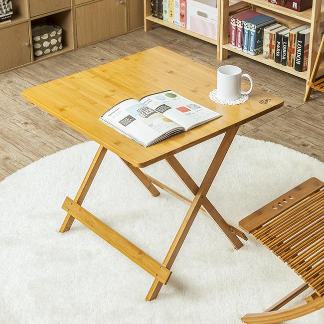 모던 접이식 대나무 사각 테이블 [제작 대량 도매 로고 인쇄 레이저 마킹 각인 나염 실크 uv 포장 공장 문의는 네이뽕]
