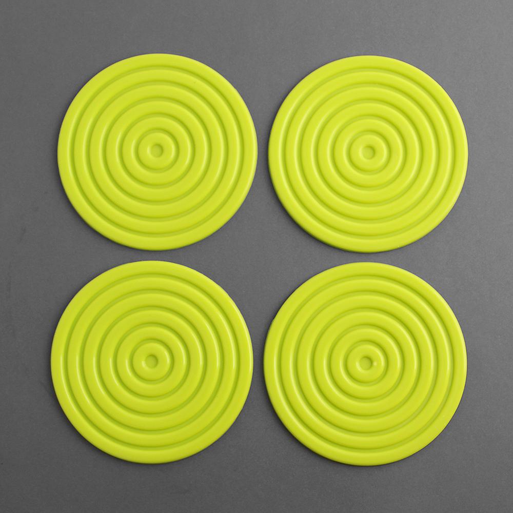 실리콘 원형 컵받침 4p세트 [제작 대량 도매 로고 인쇄 레이저 마킹 각인 나염 실크 uv 포장 공장 문의는 네이뽕]