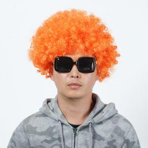 뽀글이 파마 파티 가발(오렌지) [제작 대량 도매 로고 인쇄 레이저 마킹 각인 나염 실크 uv 포장 공장 문의는 네이뽕]