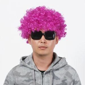 뽀글이 파마 파티 가발(퍼플) [제작 대량 도매 로고 인쇄 레이저 마킹 각인 나염 실크 uv 포장 공장 문의는 네이뽕]