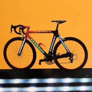 자전거 프레임 LED 라이트 바 [제작 대량 도매 로고 인쇄 레이저 마킹 각인 나염 실크 uv 포장 공장 문의는 네이뽕]